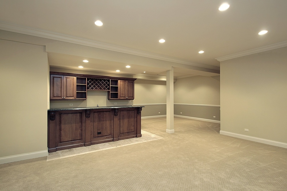 Newly finished basement renovation