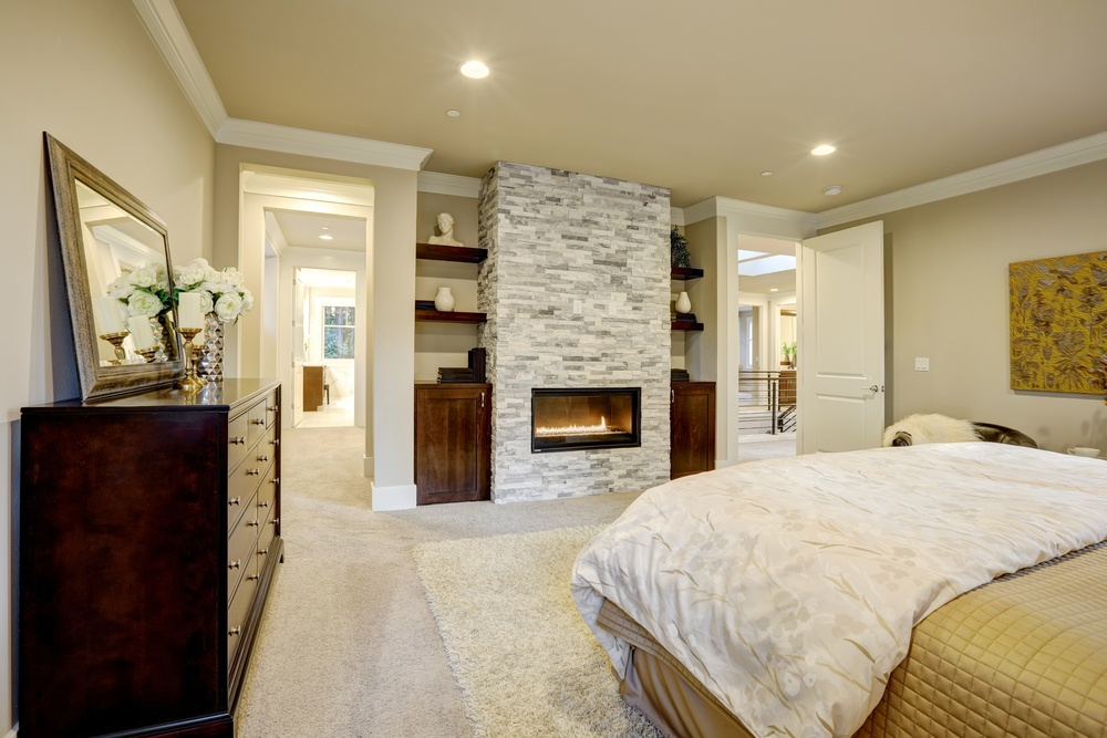 Master bedroom with walk in en suite